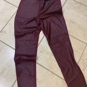 GUESS Faux Leather Front Leggings